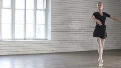 Ballerina dancing in ballet class Arkistovideo