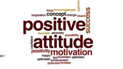 Positive attitude animated word cloud, text design animation. Stock Footage