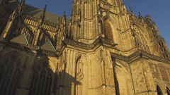 Saint Vitus Cathedral in Prague, Czech Republic Stock Footage