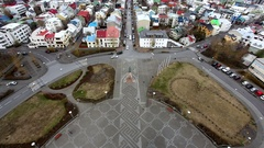 Overlooking the city of Reykjavik, Iceland Stock Footage