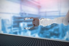 Composite image of robotic hand with metal claw 3d Stock Illustration