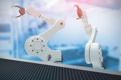 Composite image of digital image of robotic hand with claw 3d Stock Illustration