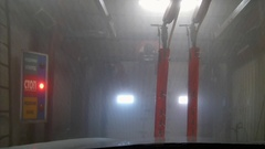 Automatic car wash Stock Footage