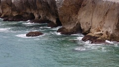 Ocean Rocky Coast (closeup). Stock Footage