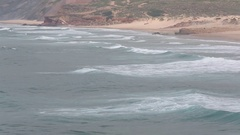 Atlantic Surf Waves, Algarve, Portugal. Stock Footage