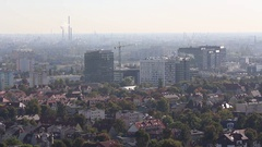 Gdansk panoramic view on old district Stock Footage