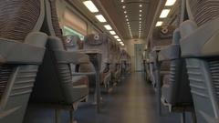 Modern train wagon interior. Stock Footage