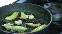 Preparation of a typical dish Italian Stock Footage