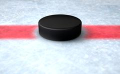 Hockey Puck Centre Stock Illustration