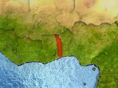 Togo in red Stock Illustration