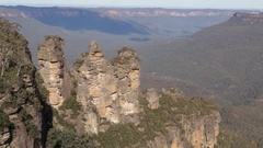 Three sisters of Blue Mountains NP Stock Footage