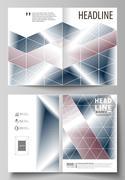 Business templates for bi fold brochure, magazine, flyer, report. Cover design Stock Illustration