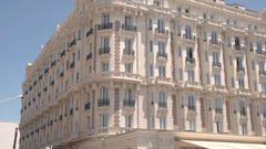 Hotel Carlton in Cannes. Stock Footage