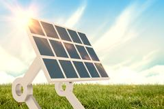Composite image of sources of renewable energy equipment 3d Stock Illustration