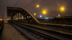 After the end of working day,  people depart home on train,time lapse Stock Footage