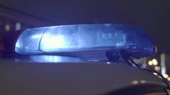 Close-up of flashing emergency lights of the emergency services Stock Footage