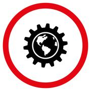 Earth Engineering Vector Bicolor Rounded Icon Piirros