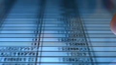 Financial Data Analysis Stock Footage