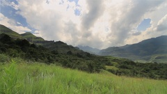 HDR shot of the Drakensberg Mountains in Africa Stock Footage