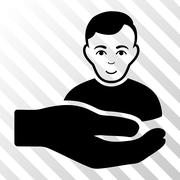 Customer Support Hand Vector Icon Stock Illustration