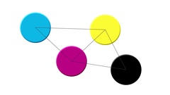 Connected dots showing network. Stock Footage