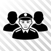Army Team Vector Icon Stock Illustration
