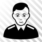 Officer Vector Icon Stock Illustration