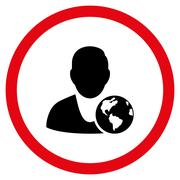 International Manager Vector Bicolor Rounded Icon Stock Illustration