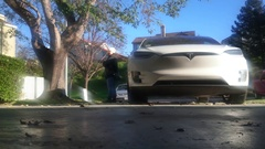 Tesla X front Stock Footage