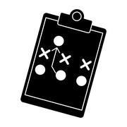 Silhouette board tactical diagram american football Stock Illustration