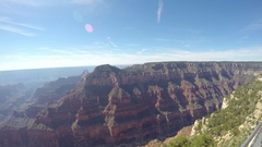 Zooming pan timelapse view from a viewpoint, at Grand canyon north rim, in .. Stock Footage