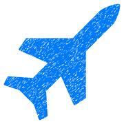 Aeroplane Grainy Texture Icon Stock Illustration