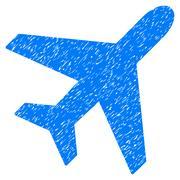 Plane Grainy Texture Icon Stock Illustration