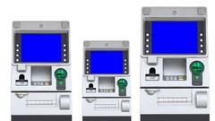 ATM (Automatic Teller Machine) Blue Screen Display (loop) Arkistovideo