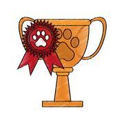 Pet competition design Stock Illustration