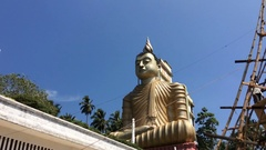 The largest statue of Buddha in all of Sri Lanka Wewurukannala Vihara Stock Footage