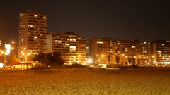 The Rambla of Montevideo at night Stock Footage