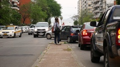 Traffic in Montevideo Stock Footage