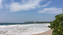 Restless ocean with big waves and the beach Dickwella Sri Lanka Stock Footage