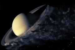 Planet Explosion - Saturn. Elements of this image furnished by NASA Stock Photos