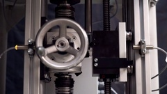 Electronic mechanical device. Valve. Automatically device rising to the top. Stock Footage