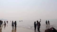 Juhu Beach, Mumbai Stock Footage