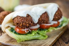 Falafel Sandwich Stock Photos