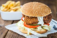 Homemade Falafel Burger Stock Photos