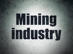 Manufacuring concept: Mining Industry on Digital Data Paper background Piirros