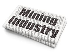 Manufacuring concept: Mining Industry on Newspaper background Piirros