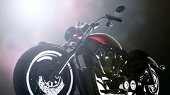 Chopper motobike with lights Arkistovideo