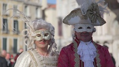 Venice Carnival Portrait mask Stock Footage