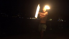 Full moon party on the beach Stock Footage