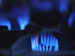 4k Gas-cooker on restaurant kitchen Stock Footage